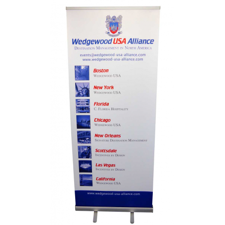 850mm wide cheap roll up banners