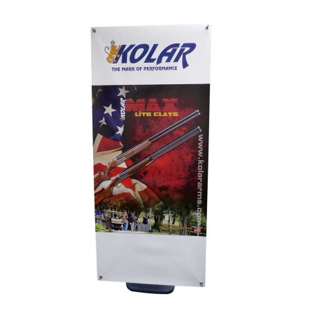 Cyclone outdoor banner stands