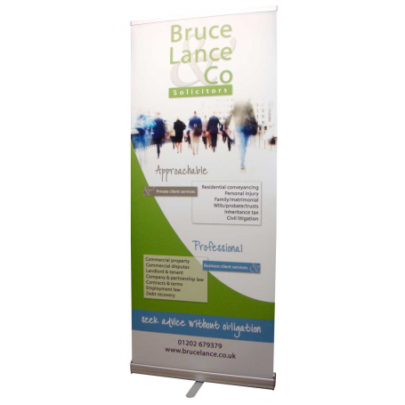 Quick and Easy standard height roller banners