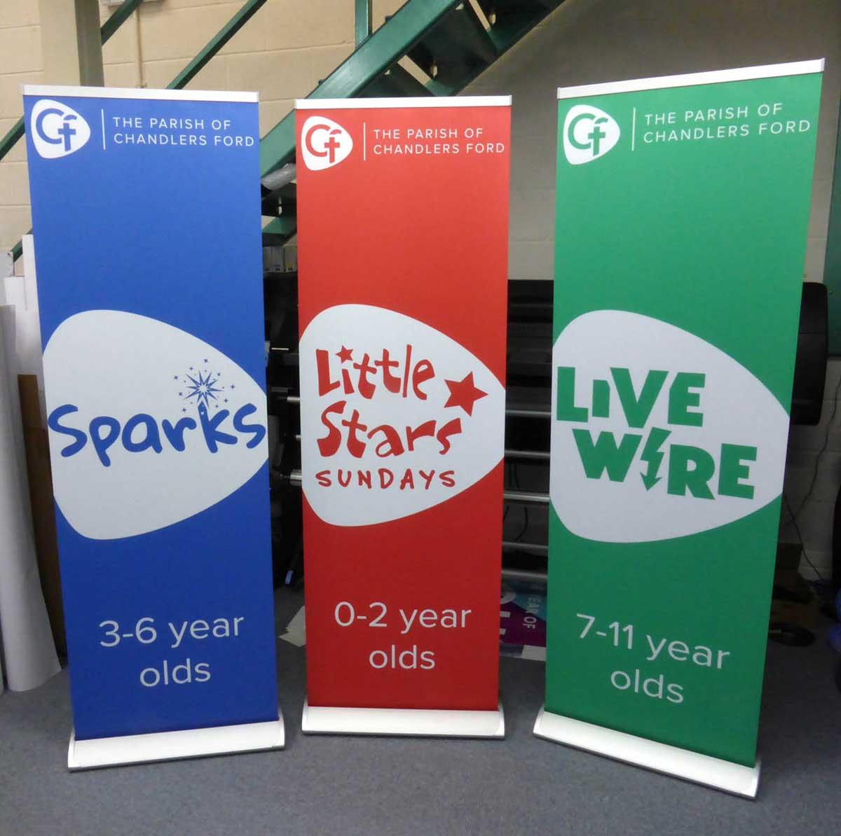 exhibition banners 85cm wide rgl displays ltd