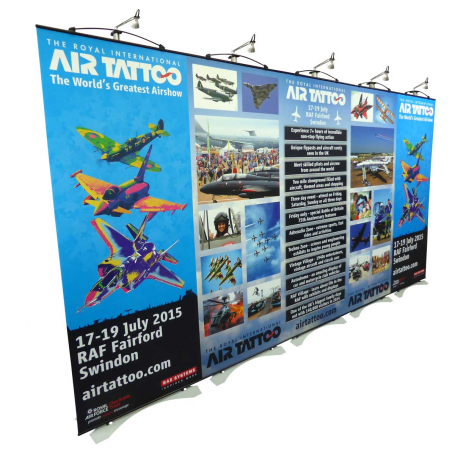 twist 3.8m wide exhibition stand